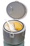 Multicooker with pie Royalty Free Stock Photography