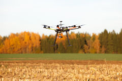 Multicopter with camera Royalty Free Stock Photos