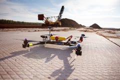 Multicopter con la macchina fotografica Fotografia Stock Libera da Diritti