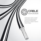 Multicore cable of large cross section. Vector illustration Stock Images
