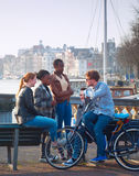 Multicultural Amsterdam Royalty Free Stock Images