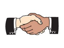 Multicultural business handshake  icon Stock Image