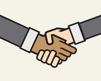 Multicultural business handshake  icon Royalty Free Stock Photo