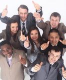 Multicultural business team with thumbs up Stock Photos