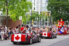 Multicultural Canada Day celebrations. Canada Day is celebrated annually on July 1 across Canada to celebrate the anniversary of the July 1, 1867 enactment of Stock Photo