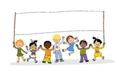 Multicultural children royalty free illustration