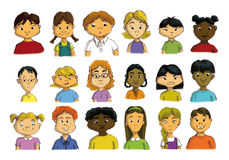MULTICULTURAL CHILDREN. CHILDREN FROM DIFFERENT COUNTRIES OF THE WORLD royalty free illustration