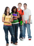 Multicultural College Students. Male and female Royalty Free Stock Photos