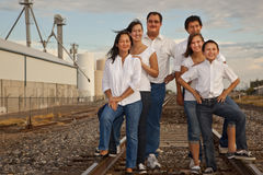 Multicultural Family Portrait photographed in an i stock photos