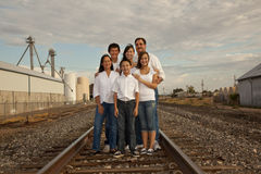 Multicultural Family Portrait photographed in an i stock photography