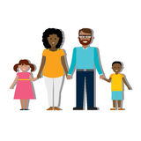 Multicultural family on white. Stock Photos