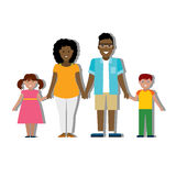 Multicultural family on white. Stock Photography