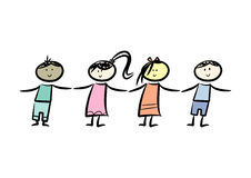 Multicultural friendship royalty free illustration