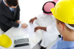 Multicultural group of engineers architects Royalty Free Stock Photography