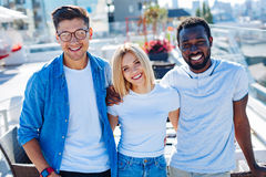 Multicultural group of students smiling for camera Stock Image