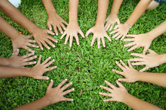 Multicultural hands Stock Images