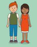 Multicultural people avatars icon. Illustration design Stock Photography