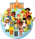 Multicultural school kids concept Royalty Free Stock Photo