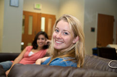 Multicultural Students in Student lounge Stock Photo