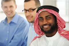 Multicultural young business team. On office Stock Images