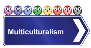 Multiculturalism in society. Representation of multiculturalism in society isolated on white background royalty free illustration