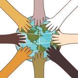 Multiculturalismo, concetto dell'ambiente Immagini Stock Libere da Diritti