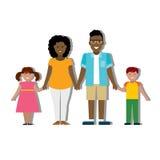 Multiculturele familie op wit Stock Fotografie
