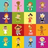 Multiculturele kinderen Stock Afbeelding