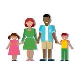 Multiculturele traditionele familie Stock Fotografie