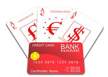 Multicurrency card Stock Photo