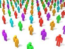 Multidão Fotografia de Stock