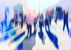 Multidão abstrata de trabalhos em rede dos povos no Cyberspace fotos de stock royalty free