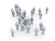 Multidão anónima Imagem de Stock