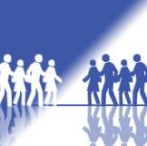 Multidão branca e azul Foto de Stock