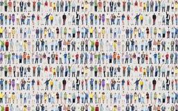 Multidão C da comunidade da felicidade da celebração do sucesso da diversidade dos povos