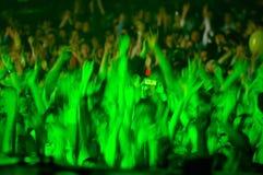Multidão Cheering Foto de Stock