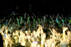 Multidão Cheering Fotografia de Stock