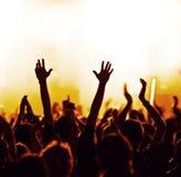 Multidão Cheering Imagem de Stock Royalty Free