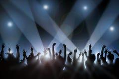 Multidão Cheering Imagem de Stock