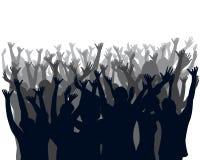 Multidão Cheering Imagens de Stock