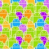 Multidão colorida do Android sem emenda Fotografia de Stock Royalty Free