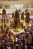 Multidão da compra do Natal Fotografia de Stock