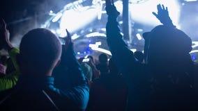 Multidão da dança no partido video estoque