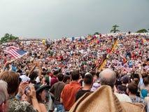 Multidão da reunião da liberdade Imagens de Stock Royalty Free