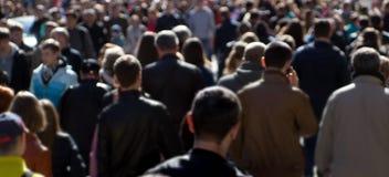 Multidão da rua imagem de stock royalty free