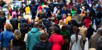 Multidão da rua imagens de stock royalty free