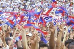 Multidão de 50.000 reuniões na Universidade do Texas Imagem de Stock
