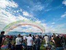 Multidão de Airshow Imagens de Stock
