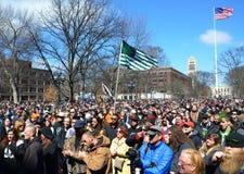 Multidão de Ann Arbor Hash Bash 2014 imagens de stock royalty free