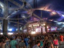 Multidão de espectadores no festival do circo de Sziget Foto de Stock